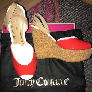 Juicy Couture cork wedges